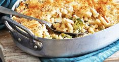 This tasty Broccoli Pasta Bake with bacon, leek, blue cheese and parmesan is a winter warmer dish that the whole family will enjoy