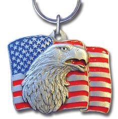 Silver Marines Emblem USMC Dog Tag Style Key Chain Rothco 4783 Key Chains