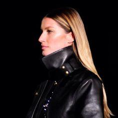Model Gisele Bündchen walks the runway for Alexander Wang, Fall 2012 - also, how much does she look like Tom Brady?!