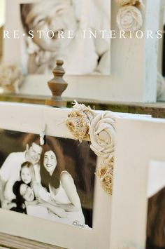DIY - Burlap Flowers on Picture Frame