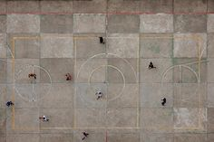 See The Soccer Fields Of Brazilian Neighborhoods From Up In The Clouds