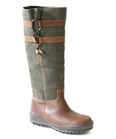 9a173d7d0 Green Brown Move On Leather Boot - Women  zulilyfinds
