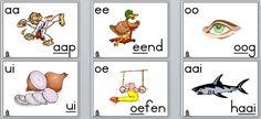 2 3 klankemuurkaarte Alphabet Activities, Classroom Activities, Toddler Activities, Preschool Learning, Learning Activities, Teaching Posters, African Children, School Posters, School Readiness