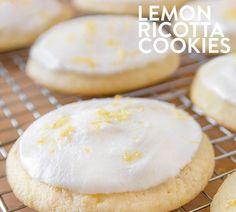 Nordstrom's Cafe Lemon Ricotta Cookies Ricotta Cheese Cookies, Cheese Cookies Recipe, Ricotta Dessert, Lemon Ricotta Cake, Lemon Cookies, Candy Cookies, Cookie Desserts, Cookie Recipes, Bon Appetit