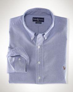 Polo Ralph Lauren Shirt, Core Classic Fit Oxford Dress Shirt - Mens Shirts - Macy's- Size M- Blue Casual Button Down Shirts, Casual Shirts, Shirt Outfit, Shirt Dress, Slim Fit Dress Shirts, Sports Shirts, Men's Shirts, Shirt Sleeves, Polo Ralph Lauren