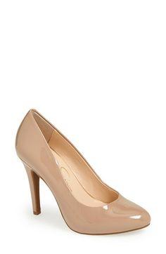 Nude colored shoe.  Jessica Simpson 'Malia' Pump (Women) | Nordstrom