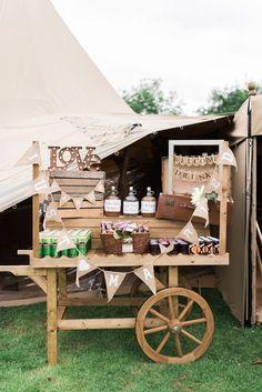 Rustic Wooden Camping Wedding Bar / http://www.deerpearlflowers.com/rustic-wedding-details-and-ideas/2/
