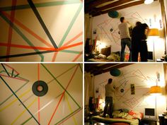 With Masking tapes.  Comptine du quotidien