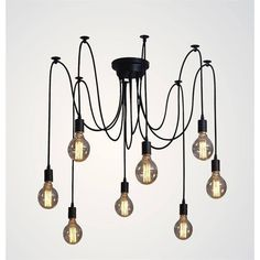 Edison Vintage Spider Ceiling Lamp - 8 Sockets | GFURN