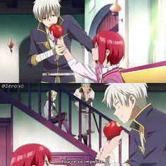 Akagami no Shirayuki-hime || Zen, Shirayuki, Mitsuhide, and Kiki || Love this scene~ XD