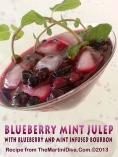 BLUEBERRY MINT JULEP a great recipe to try for a derby day wedding or party