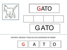 Presentación fichas lectoescritura g