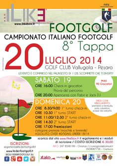 8° Tappa Nazionale FootGolf domenica 20 luglio a Pesaro