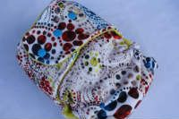 Abstract *Visionary*, T, Yellow CV, Knit by 4ward Thinking Cloth Diapers