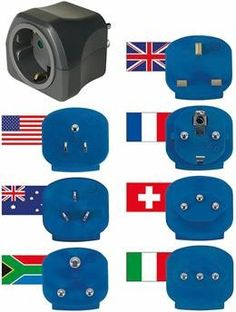 Brennenstuhl UK Travel Plug Adapter Set x 6 for use in over 150 Countries Travel Accessories, Plugs, Van, Kids Rugs, Country, Computers, Travel Tips, Products, Circuits