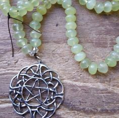 The Green Witch, green witch, witch mala, witch prayer beads, pagan prayer beads, pagan mala, wicca prayer beads, wicca mala, witch necklace by MagickAlive on Etsy