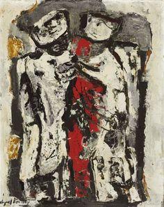 Adán y Eva (los que vieron la Luna) Raquel Forner
