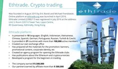 Cryptocurrency: Be the Future Today with Ethrade