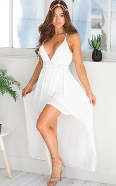 85f62e13a0b2 Inner Goddess maxi dress in white | SHOWPO Fashion Online Shopping White  Maxi Dresses, Day