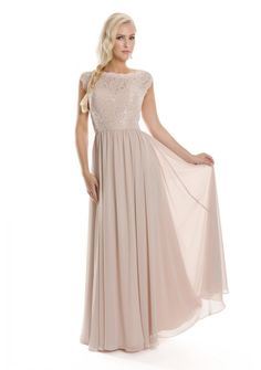 Modest Sheath Scoop Neck Short Sleeve Blush Pink Chiffon