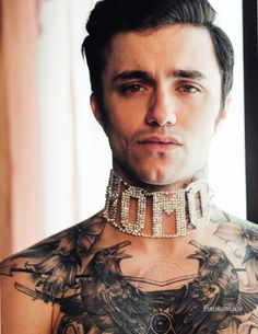 Jake Bass by Taylor Miller Boy Tattoos, Tattoos For Guys, Taylor Miller, Pink Panter, Emperors New Clothes, Tattoo Clothing, Male Face, Male Beauty, Handsome Boys