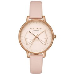 Women's Ted Baker London Brook Leather Strap Watch, 36Mm (3 980 UAH) ❤ liked on Polyvore featuring jewelry, watches, ted baker jewelry, leather strap watches, ted baker, ted baker jewellery and round watches