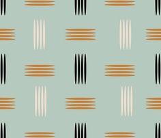 mid century modern wallpaper | Mid Century Modern Teal - chickoteria - Spoonflower