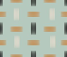 mid century modern wallpaper   Mid Century Modern Teal - chickoteria - Spoonflower