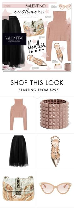 """Valentino"" by justlovedesign ❤ liked on Polyvore featuring Valentino, H&M and cashmere"