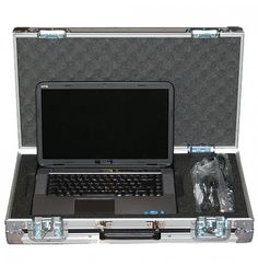 Slimline #Laptop #FlightCase For #DellXPS. This stylish slimline laptop flightcase is designed in a briefcase style to accommodate a Dell XPS laptop. The case is manufactured using smooth lightweight Astroboard plastic which is bonded with a black laminate.