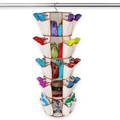 Smart Design Smart Carousel Organizer w/ 40 Pockets & Steel Metal Hook - 360 Degree Swivel - Heavy Duty Fabric - Clothing, Shoes, Misc. Item - Home Organization x Inch) [Beige] Closet Storage, Closet Organization, Wardrobe Storage, Clothing Storage, Bedroom Storage, Handbag Storage, Dorm Life, College Life, Shoe Organizer