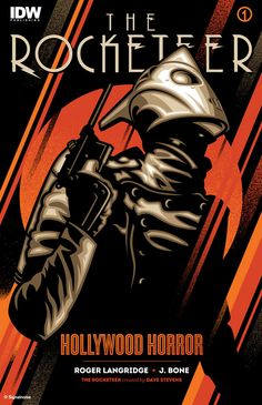 The Rocketeer Hollywood Horror #1 cover, variant design, by James White.
