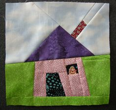 Wonky House Quilt Block 2