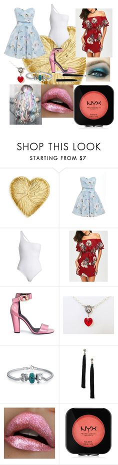 """Summer Sweetheart"" by kookieinez ❤ liked on Polyvore featuring TFNC, Jade Swim, Stella Luna, Bling Jewelry, Miss Selfridge and NYX"