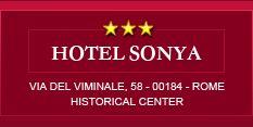 ROME logo Hotel Sonya --180E, right by Termini station; close to stuff; airport shuttle; good breakfast, pretty good trip advisor ratings
