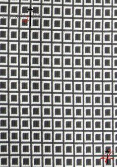 Particolare Tessuto Cravatta in Seta Nera a Quadretti Piccoli Argento Tinta in Filo