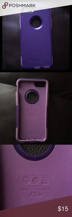 Otter box iPhone 6/6s case - purple This is a used iPhone commuter case. Definitely used and can see worn in pictures. Still fully functioning and very durable. Fit my iPhone 6s - see otter box descriptions for more details - does not come with top screen (never came with one) OtterBox Accessories Phone Cases