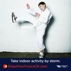Spring storms may drive your kids inside, but they still need 60 minutes of physical activity every day. Keep their health on course by setting up an indoor obstacle course!  Line up a row of chairs for them to crawl under, or tape yarn in between hallways and have them ninja their way through them!