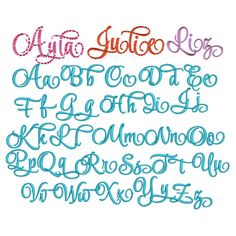 Ayla Script Embroidery Font SKU: DBJJ594 Design Set: $20.00 Instant Download! 5 sizes included! 1 1/2 inch, 2 inch, 3 inch: all fit in the 4x4 hoop 4 inch and 5 inch: fit within 5x7 hoop Now includes BX format!