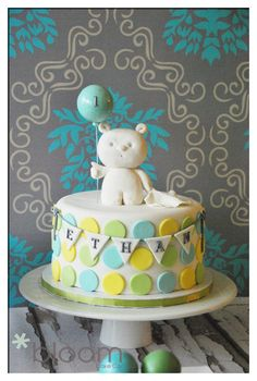 1st birthday cake - bloom cake co. soooo sweet