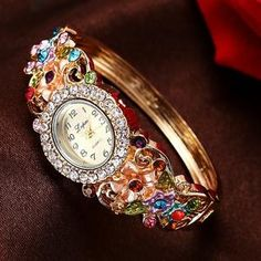 Elegant Women's Flower Fashion Bracelet Watches