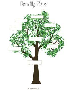 tree outline printable | Free Printable Family Tree Template For Kids