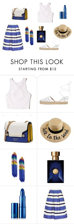 lucia 2 by emanulove on Polyvore featuring moda, Hollister Co., Paul & Joe Sister, Maiden Lane, Lele Sadoughi, Lipstick Queen and Versace