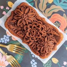 Nordic Ware Wildflower Loaf Pan   Chefs Corner Store Frozen Disney, Yule, Baking Set, Baking Tools, Nordic Ware, Loaf Cake, Spice Cake, Pound Cake Recipes, Freshly Baked