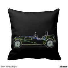 sport car throw pillow