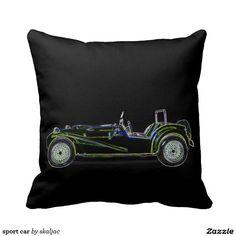 sport car throw pillow