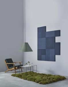 Rimpi is an acoustic wall panel for home and public spaces. Beautiful Rimpi surface can be used for covering entire walls or as an freely assembled art piece.   The acoustic material used in RIMPI is surface peat moss. It is 100% ecological...