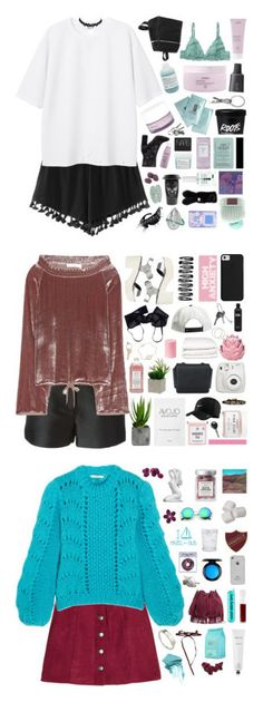 """""""collabs"""" by siamesecat-1 ❤ liked on Polyvore featuring Monki, Kara, Aveda, Davines, Bite, Korres, Givenchy, Luichiny, Sachajuan and Living Proof"""
