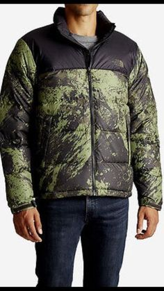 The North Face M Nuptse Jacket Down Black Green Men's 700 Fill MSRP $200 NEW | Clothing, Shoes & Accessories, Men's Clothing, Coats & Jackets | eBay!