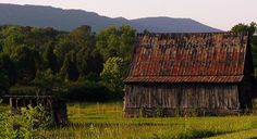"""An old barn in DeKalb County Alabama where the """"See Rock City"""" paint has long faded."""